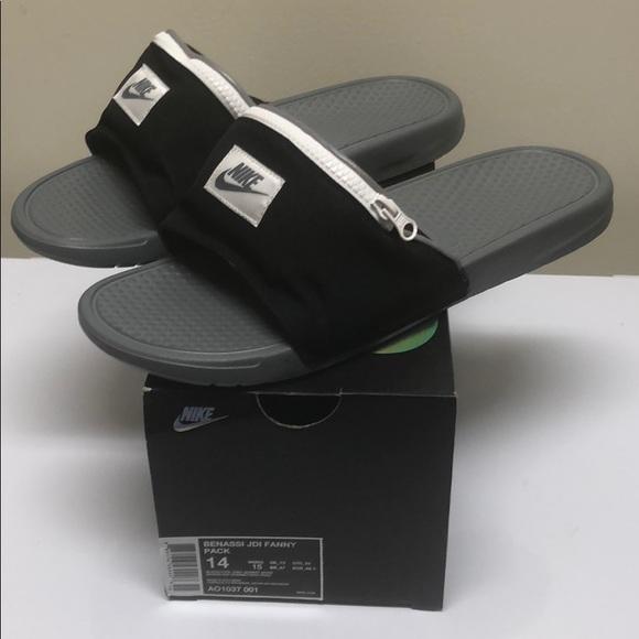 """7429fbaf928f Nike Benassi """"JDI FANNY PACK"""" Slides"""